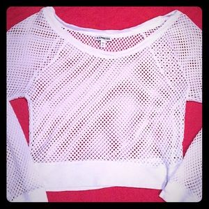 Women's Express Mesh Crop Sweater